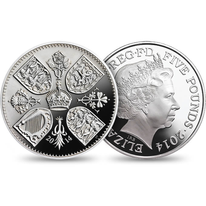 The First Birthday of Prince George 2014 UK £5 Silver Coin