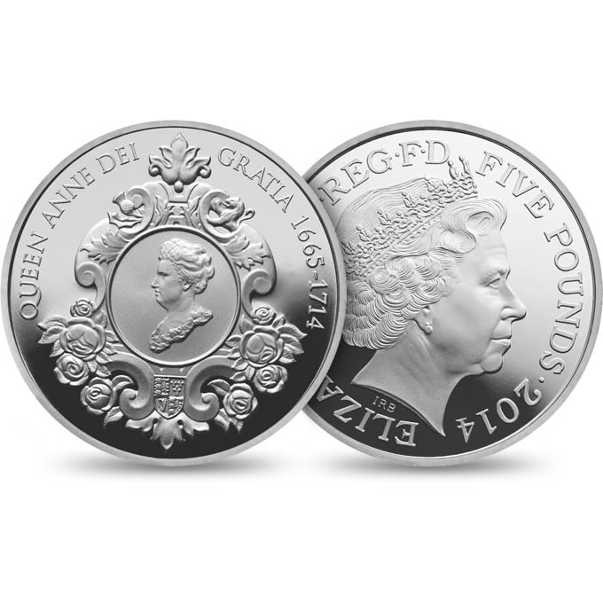 The official 2014 coin commemorating the life and legacy of Queen Anne