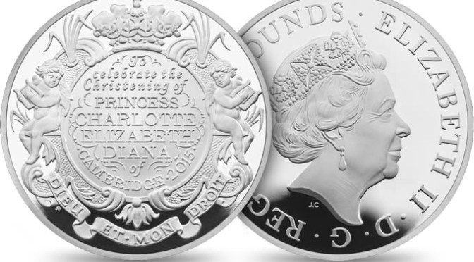 Princess Charlotte Christening 2015 UK £5 Silver Proof Coin